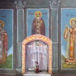 Восстановленные фрески левой стены