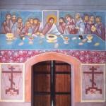 Восстановленная  фреска Тайная Вечеря