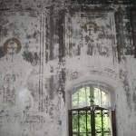 Фрески правой стены до восстановления